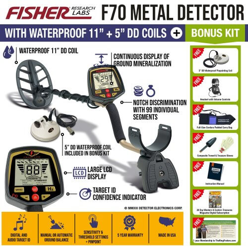 Fisher F70 Metal Detector Shop Features Reviews