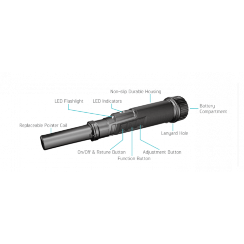 Nokta PulseDive Pinpointer with Built-in Wireless Module 3 kHz Frequency