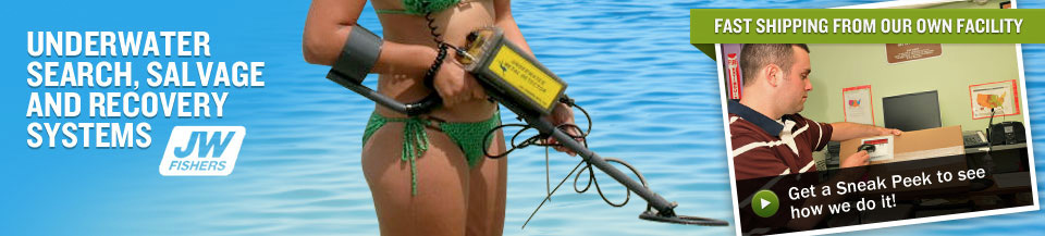 JW Fishers Metal Detector - Underwater Search, Salvage and Recovery Systems
