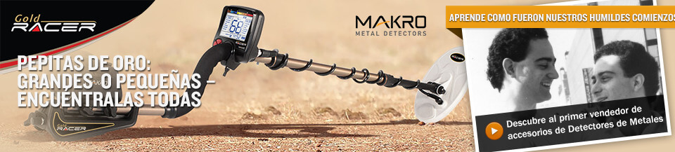 Makro Gold Racer Metal Detector - Gold Nuggets: Big or Small - Finds Them All!
