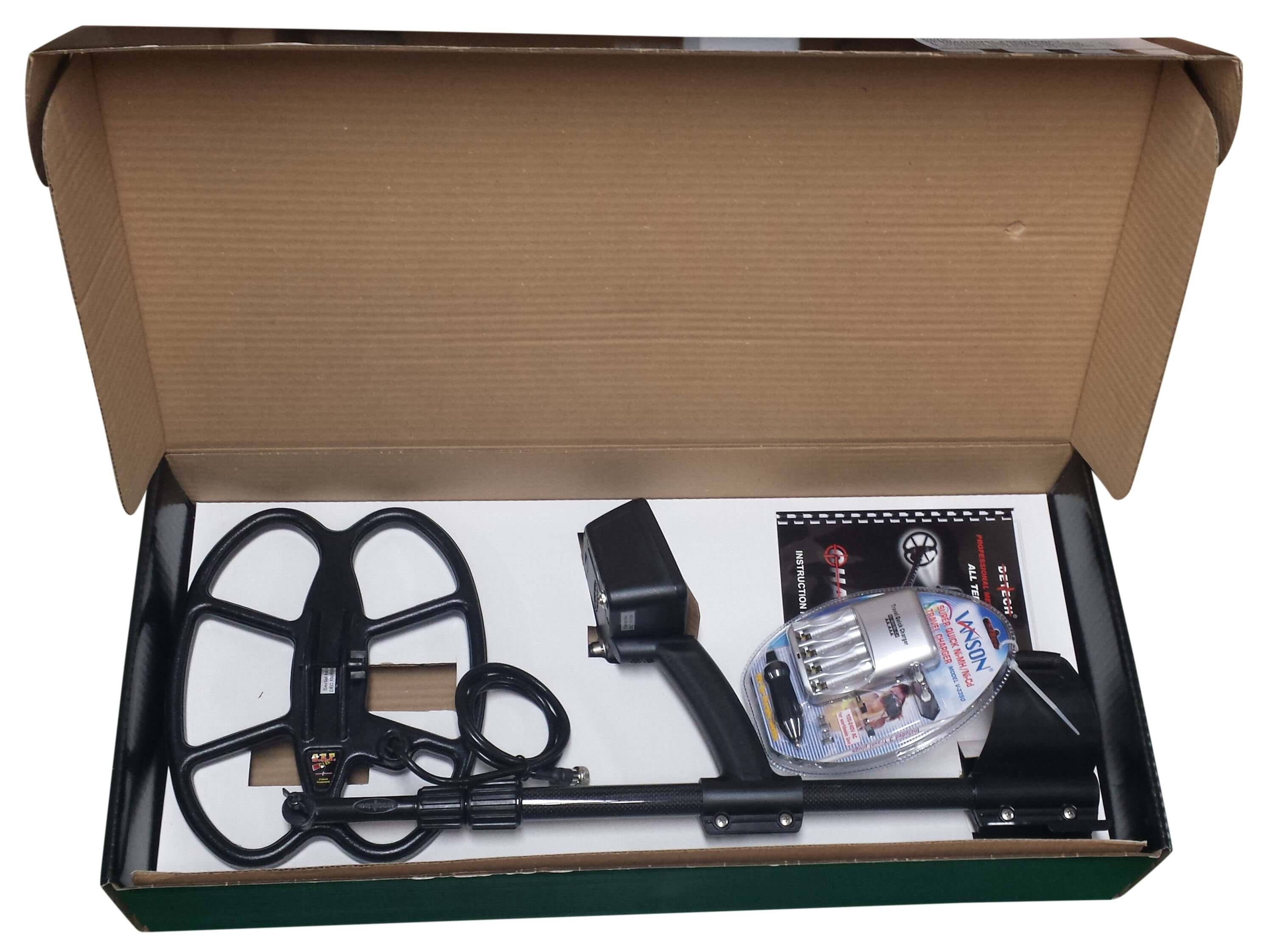 """Detech Chaser Metal Detector with 12"""" x 10"""" SEF Butterfly Coil Ships in a 31"""" x 5"""" x 14"""" Color Box"""