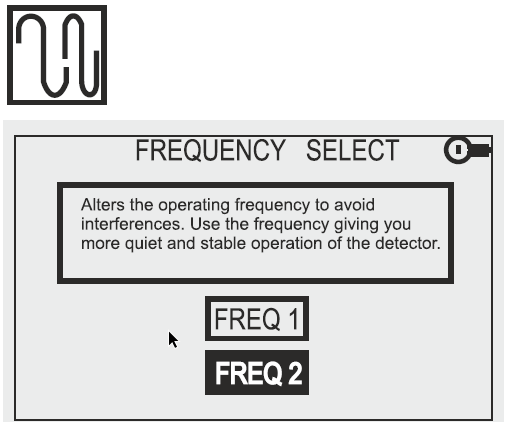 Detech Chaser Frequency Display