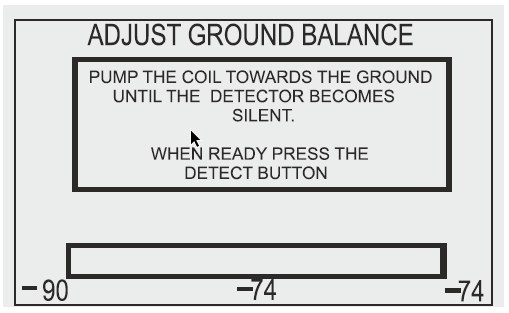 Detech Chaser Ground Adjust Display