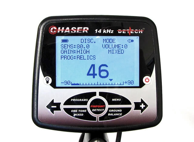 Detech Chaser LCD Display Screen Navigation